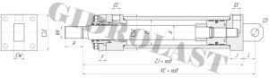 Гидроцилиндры, крепление CH2MP3 чертеж