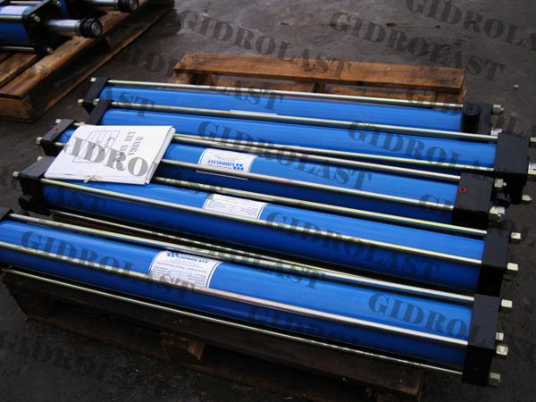 Гидроцилиндры для вибраторов для заказчика Геосвип