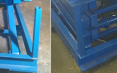 Механические ограничители опускания стола в сложенном состоянии