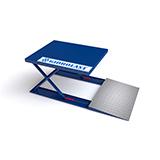 Низкопрофильные подъемные столы для использования на складах и тяжелой промышленности