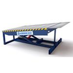 Гидравлические подъемники для уравнивания высоты на складских комплексах и производственных площадках