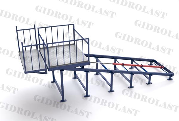 Гидравлические наклонные подъемники для склада