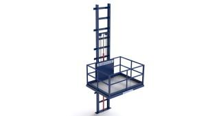 Фасадные консольные подъемники могут изготавливаться с одной, двумя или тремя мачтами