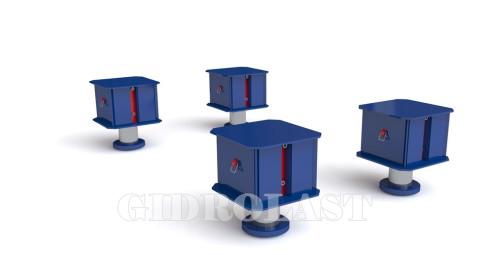 Изображение монтажной системы из 4 домкратов