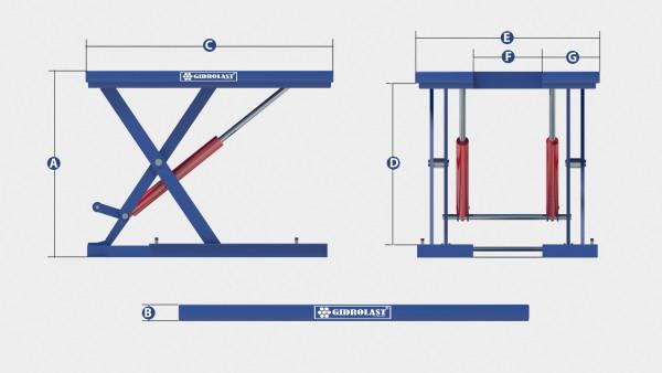 U-образный подъёмный стол