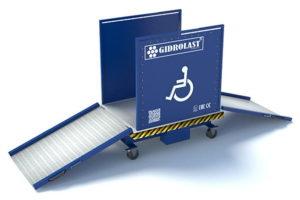 Гидравлические подъемники для инвалидных колясок от кампании Gidrolast