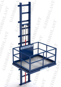 Качественный гидравлический мачтовый погрузчик для магазина от отечественного производителя